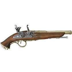 Пистолет пиратский 18век Denix 1103, латунь